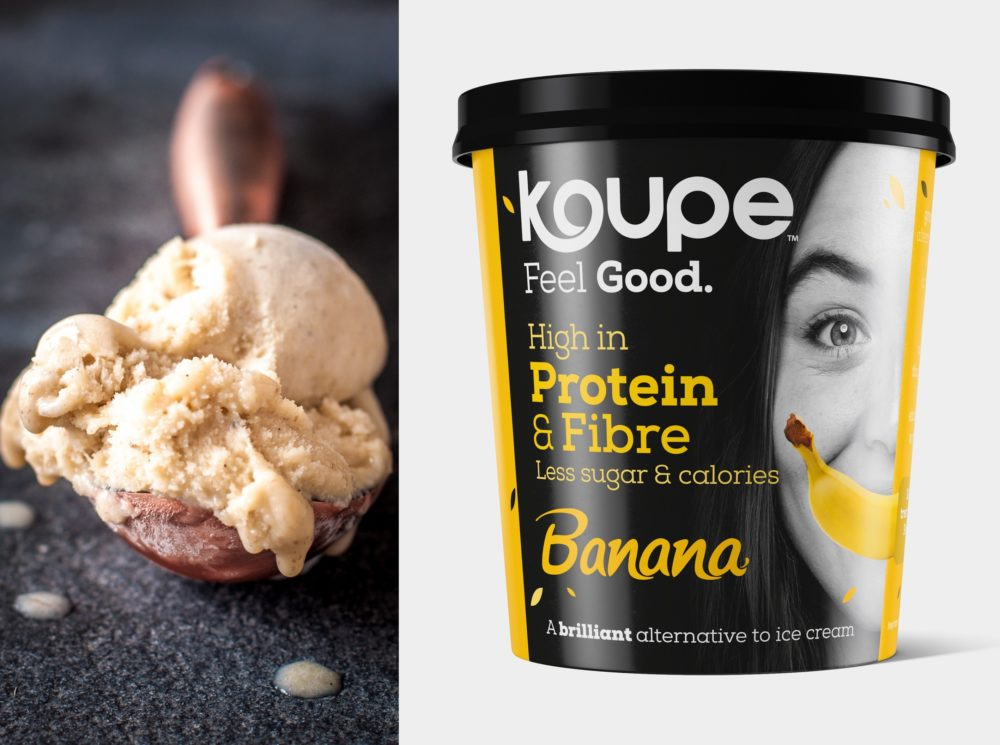 Koupe Brilliant Banana scoop and tub LARGE