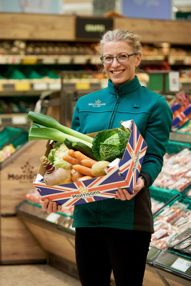 MORRISONS LAUNCHES VALUE VEG BOXES   From Thursday 28th September, Morrisons is launching an affordable seasonal veg box range that are a fraction of the price of a typical veg box delivery like Abel & Cole and Riverford. The initiative is to make fresh vegetables available for all families.   Morrisons is offering an all-British supermarket vegetable box that costs £5, compared to delivered veg boxes costing upwards of £13.75, which can feed a family of four for up to five days. Morrisons.com shoppers can also buy a £3 wonky veg box for delivery with their shopping.   For more information and images, please contact the Morrisons press office at Shine Communications on 020 7100 7100 / 07775 927141 or morrisons@shinecom.com.   Free for editorial use.